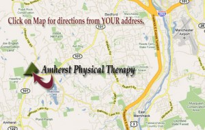 Amherst Physical Therapy Map